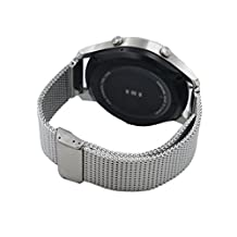 22mm Stainless Steel Milanese Watch Band Quick Release Strap Bracelet For Samsung Gear S3 Frontier / S3 Classic / Pebble Time / LG G watch R Urbane / Zenwatch 1 2 (Silver)