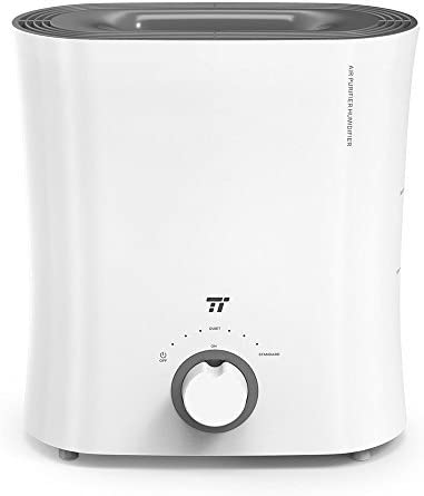 TaoTronics Evaporative Humidifier for Guitar Room, Top Fill Humidifiers with Wick Filter, No Mist & No Noise, Invisible Moisture for Instruments and Furnitures