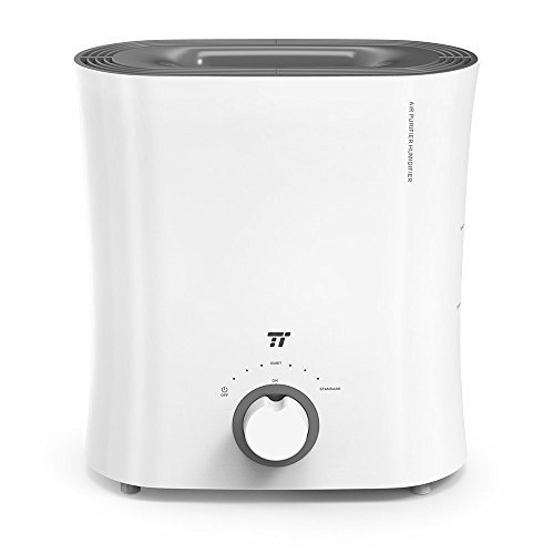 TaoTronics Evaporative Humidifier for Guitar Room, Top Fill Humidifiers with Wick Filter, No Mist & No Noise, Invisible Moisture for Instruments and Furnitures,White-(2.5 L/0.66 gal, 110V)