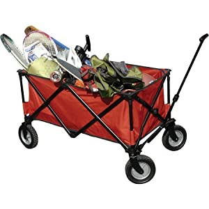 Ozark Trail Folding Wagon Utility Cart, Red