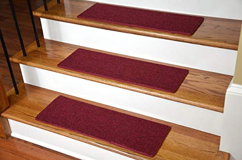"""Carpet Stair Treads 23"""" x 8""""  - Red - Set of 13 from Dean Flooring Company"""