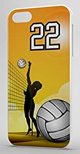 iphone covers Volleyball Sports Fan Player Number 22 Clear Plastic Decorative Iphone 5 5s Case