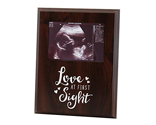 Sonogram Picture Frame Love at First Sight for New Mom Gift or Announcement from Elegant Signs