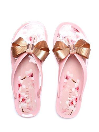 9fc9e10fc036f ... Amazon.com Ted Baker Women s Susziep PVC Floral Bow Flip Flop Blossom  Pink Flip ...