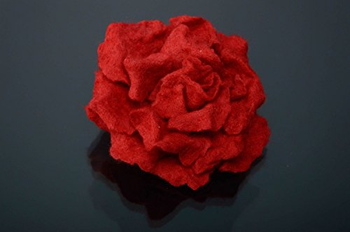 Handmade Woolen Brooch Hair Pin Rose