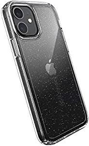 Speck Products Gemshell Glitter iPhone 12, iPhone 12 Pro Case, Clear/Clear with Gold Glitter (137604-9221)