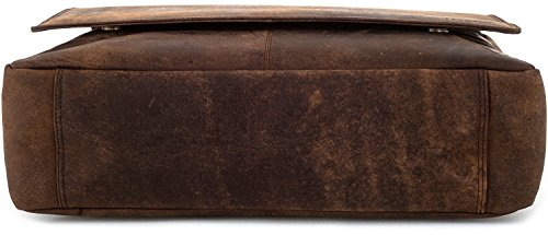 LEABAGS Oxford genuine buffalo leather messenger bag in vintage style - Muskat by LEABAGS (Image #7)