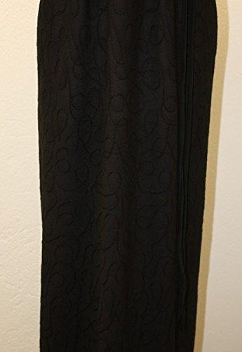 Stickerei Maxikleid Damen dunkle design Schwarz RIYAx