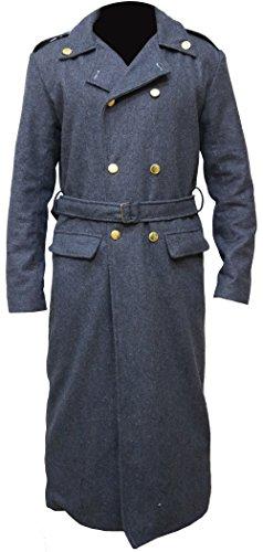 Doctor Who Captain Jack Harkness John Barrowman Long grey trench Coatt,XL.