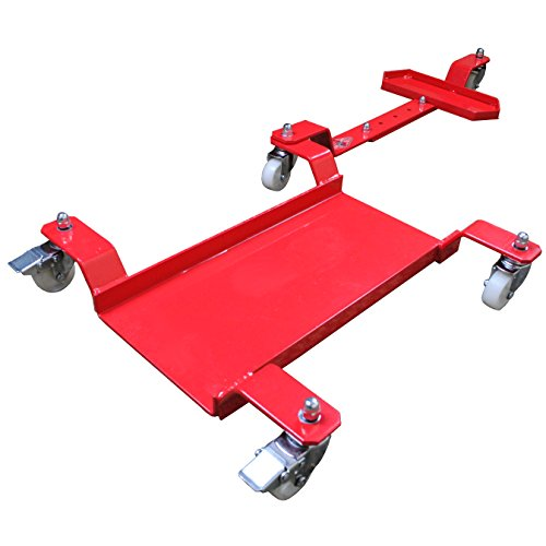 Big Horn Motorcycle Dolly | Generation 2 Low Profile Design | 1250 LBS Capacity | Adjustable For Sports Bikes Or Cruisers by Big Horn