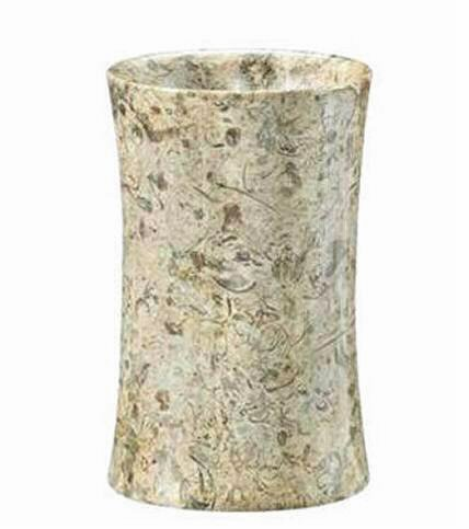 Khan Imports Decorative Coral Stone Tumbler, Traditional Coral 35th Anniversary Gift by Khan Imports (Image #2)
