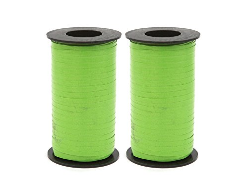 - Set of 2 Berwick Splendorette Crimped Curling Ribbon, 3/16-Inch Wide by 500-Yard Spool, Citrus