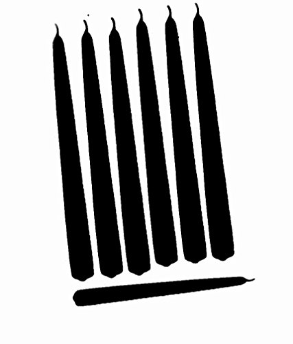 D'light Online Elegant Taper Premium Quality Candles Set of 12 Individually Wrapped (12 Inch, Black) (Black Candles Taper)