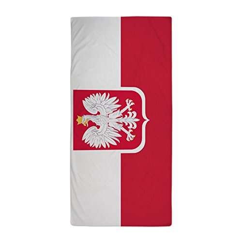 CafePress - Polish Flag Coat Of Arms - Large Beach Towel, Soft 30