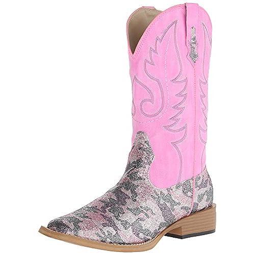 Roper Women's Pretty Camo Riding Boot, Pink, 6 M US