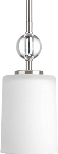 Progress Lighting Compass Collection 1-Light Brushed Nickel Mini-Pendant