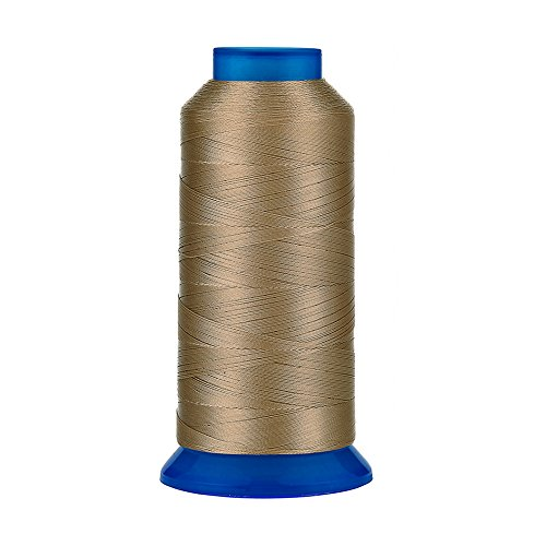 Selric [1500Yards / 30 Colors Available] UV Resistant High Strength Polyester Thread #69 T70 Size 210D/3 for Upholstery, Outdoor Market, Drapery, Beading, Purses, Leather (Khaki)