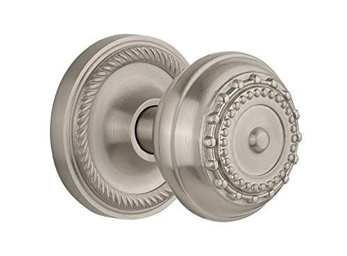 (Nostalgic Warehouse Rope Rosette with Meadows Knob, Mortise - 2.25