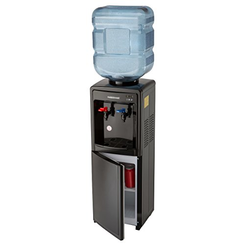 Farberware FW29919 Freestanding Hot and Cold Water Cooler Dispenser, Black (5 Gallon Water Dispenser)