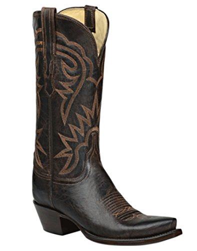 Lucchese Heritage HL4510.S54 Chocolate Brown MAD Dog Goat Size 7.5 (Chocolate Mad Dog)