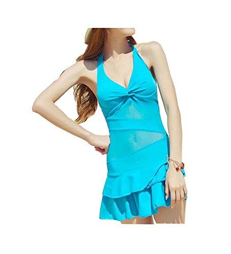 El pecho atractivo combinó el traje de baño Conjoined del tipo / la ropa femenina de la falda de la hembra