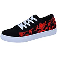 Male Oxford Shoe ,Kintaz Men's Pure Action Sport Sneaker Lace-up Casual Skate Sneaker (Red, US:11)