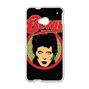 HTC One M7 Cell Phone Case White David Bowie 004 Special gift AJ8410U4