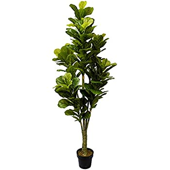 6u0027 real touch fiddle leaf fig silk tree wpot 162 leaves