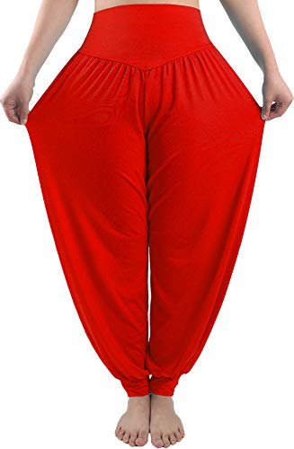 fitglam Women's Soft Modal Yoga Harem Pilates Pants Long Baggy Sports Workout Dancing -