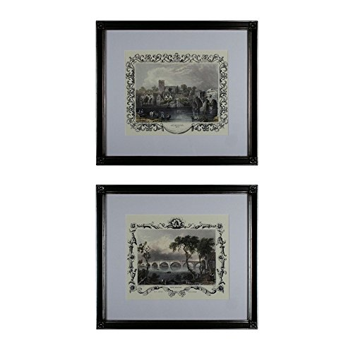 Sterling Industries 10030-S2 21'' Etchings With Borders Wall Art, Brown Finish by Sterling Industries