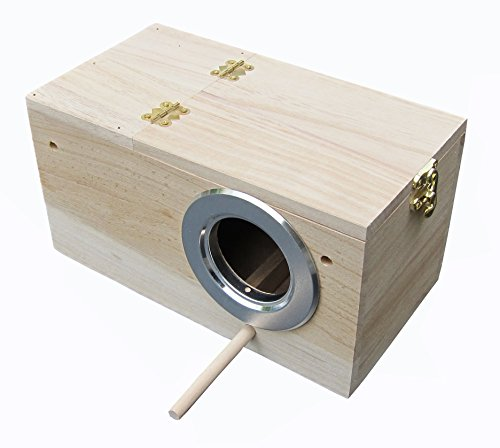 Parakeet Nest Box, Budgie Nesting House, Breeding Box for Lovebirds, Parrotlets Mating Box 848102 ()
