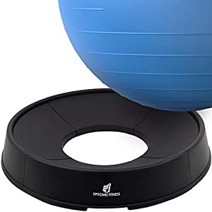 Well-Being-Matters 41W2gHVk4ZL._SS300_ Exercise Ball Base for Stability - Stand for Balance Balls Fits Balls from 55cm to 75cm - Convert Stability Ball to…