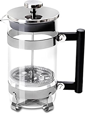 French Coffee Press (Chrome) - 32 oz Espresso and Tea Maker with Triple Filters, Stainless Steel Plunger and Heat Resistant Glass - by Utopia Kitchen made by Utopia Kitchen