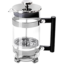 French Coffee Press (Chrome) - 34 oz Espresso and Tea Maker with Triple Filters, Stainless Steel Plunger and Heat Resistant Glass
