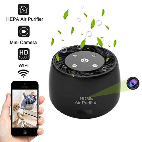 QuNiao Wireless WiFi Hidden Spy Camera, 1080P HD Home Security Camera,Support Night Vision and Motion dectection Recording, Phone App Remotely Control for Home Office or Shop