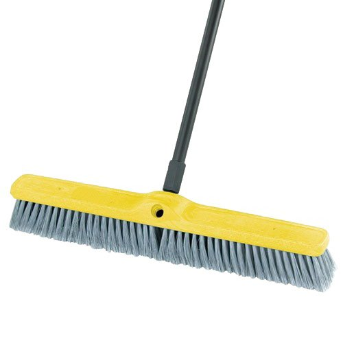 Rubbermaid Commercial Fine Floor Sweeper, Styrene Fill, 24'' Brush, 3'' Bristles, Gray - one sweeper head. by Rubbermaid Commercial