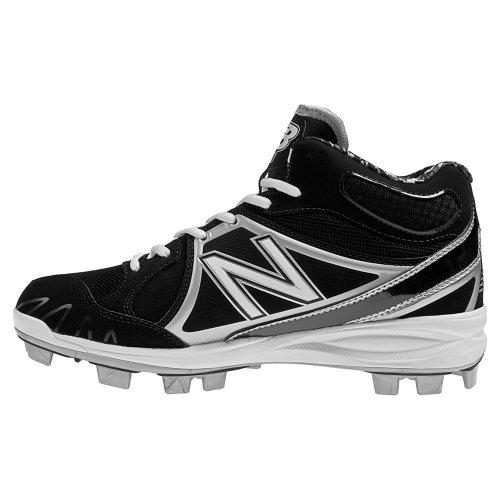 New Balance Mens MB2000 TPU Molded Mid-Cut Cleat Black/Silver Dnv9NYSk7