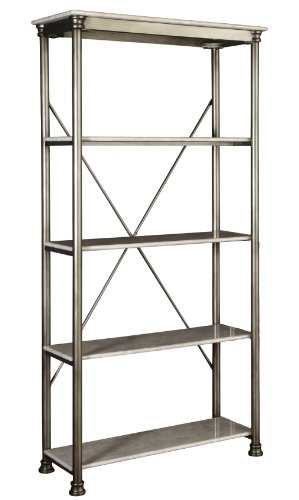 Home Styles 5060-76 The Orleans 5-Tier Multi-function Marble Shelf