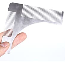 The Perfect Beard And Hair Shape Starts Out In The Comb Of The Stainless Steel Template, Helping You To Decorate Different Styles Of Beard And Hair, Smooth And Anti-Static- BIG Bearded (Silvery Gray)