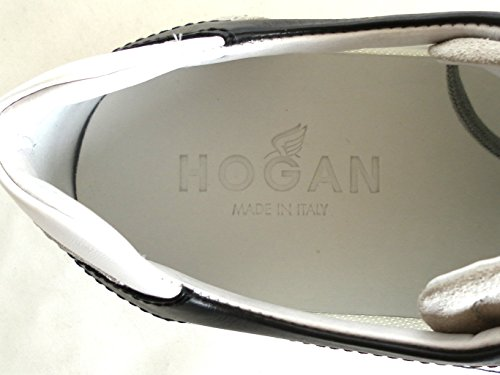 HOGAN SCARPE UOMO OLYMPIA SLASH H FLOCK HXM05201682BZK2ABP BIANCO 40 (6 uk) CAMOSCIO E TELA
