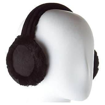 UGG Women's 5801 Double U Logo Shearling Earmuff, Black, One Size