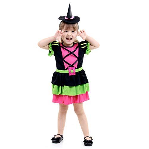 Fantasia Bruxa Divertida Bebê Sulamericana Fantasias M 2 Anos