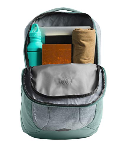 The North Face Women's Pivoter Backpack, Mid Grey Light Heather/Trellis Green (North Face Backpack Gray)
