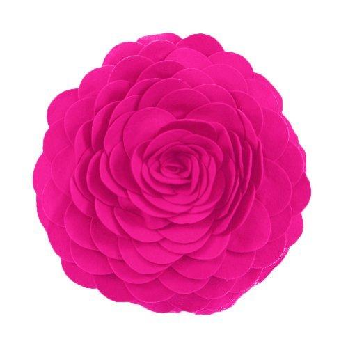 (Eva's Flower Garden Decorative Throw Pillow With Insert - 13 inch Round)