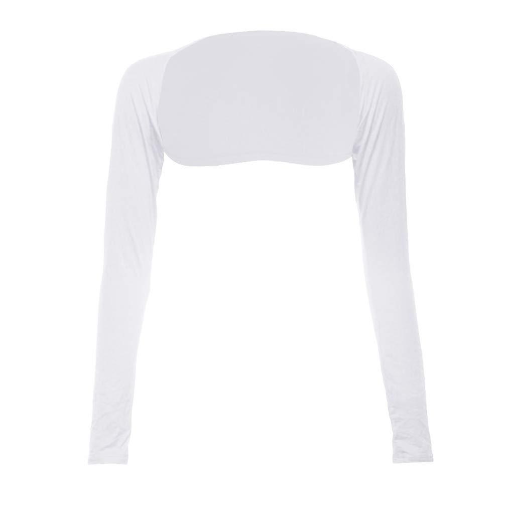 Toimothcn Fashion One Piece Sleeves Arm Cover Shrug Bolero Hijab Muslim(White,Free)