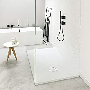Plato de Ducha Resina QUADRATTIA de NUOVVO® 100 cm de ancho GRIS OLIVA 100x100cm: Amazon.es: Bricolaje y herramientas
