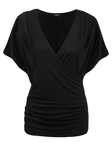 Zeagoo Womens Sleeve Shirring Blouse
