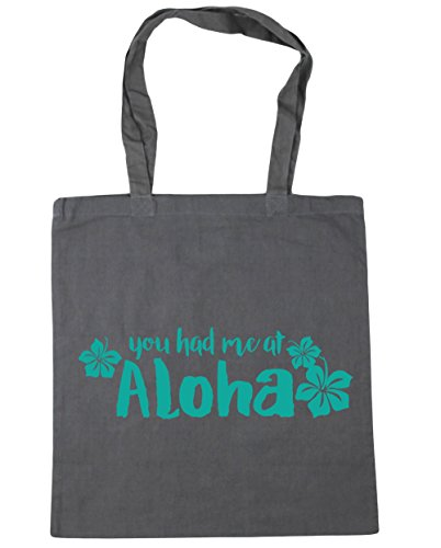 Tote 10 Me Beach You Grey Bag Gym Had At x38cm Aloha HippoWarehouse litres Shopping Graphite 42cm E7qXU
