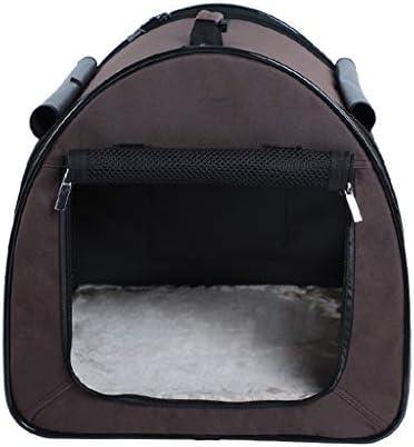 JIANXIN ペットキャリア、ポータブルペットバッグ、ペットバックパック、猫と犬のバックパック、ハンドバッグ、猫の巣 (色 : 黒)