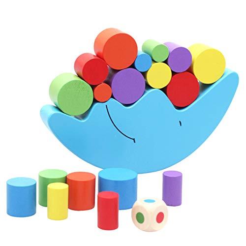 DirkFigge Moon Equilibrium Game, Hölzernes Stapelspielzeug, Mondgleichgewichtsspiel Hölzernes Stapelspielzeug Balancing…